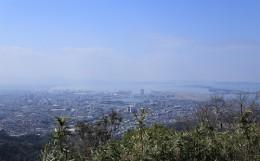 山から見た福岡